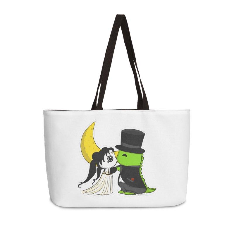 Princess Panda Serenity and Tuxedo Dino Accessories Weekender Bag Bag by Dino & Panda Inc Artist Shop
