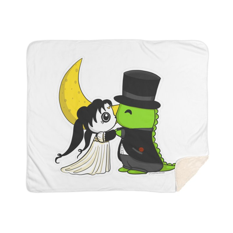 Princess Panda Serenity and Tuxedo Dino Home Sherpa Blanket Blanket by Dino & Panda Inc Artist Shop