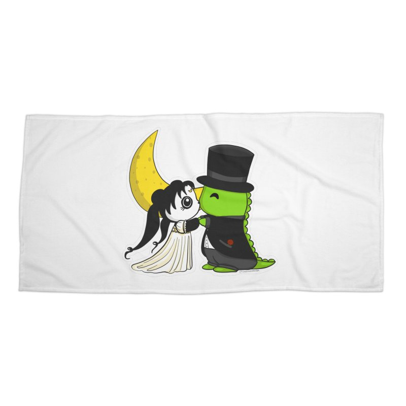 Princess Panda Serenity and Tuxedo Dino Accessories Beach Towel by Dino & Panda Inc Artist Shop