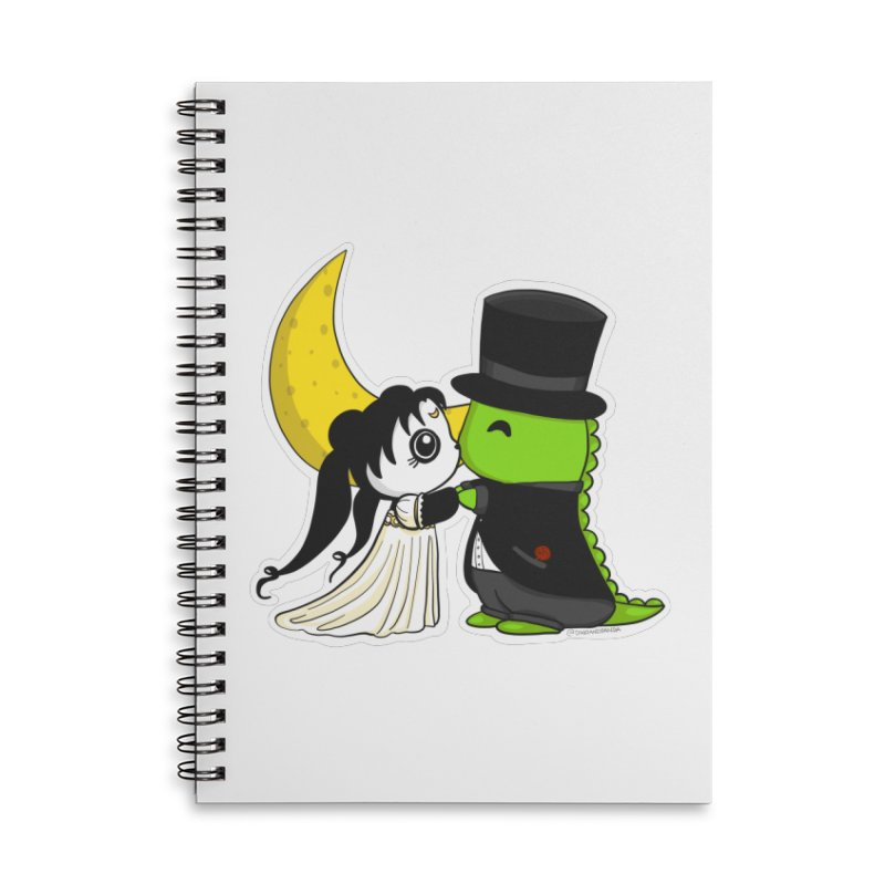 Princess Panda Serenity and Tuxedo Dino Accessories Lined Spiral Notebook by Dino & Panda Inc Artist Shop
