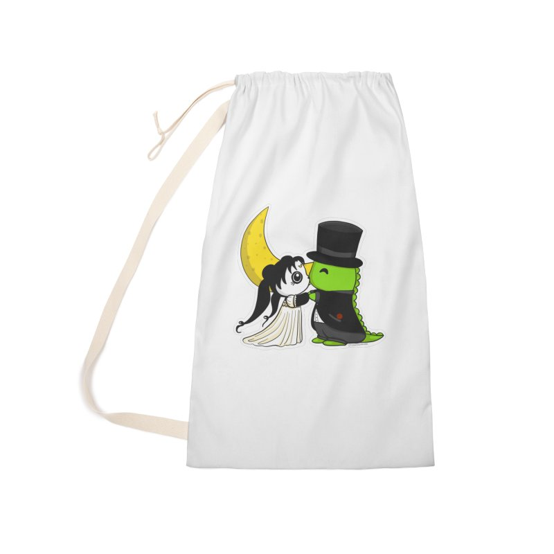 Princess Panda Serenity and Tuxedo Dino Accessories Laundry Bag Bag by Dino & Panda Inc Artist Shop