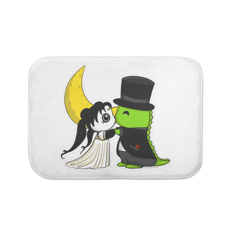 Princess Panda Serenity and Tuxedo Dino Home Bath Mat by Dino & Panda Inc Artist Shop