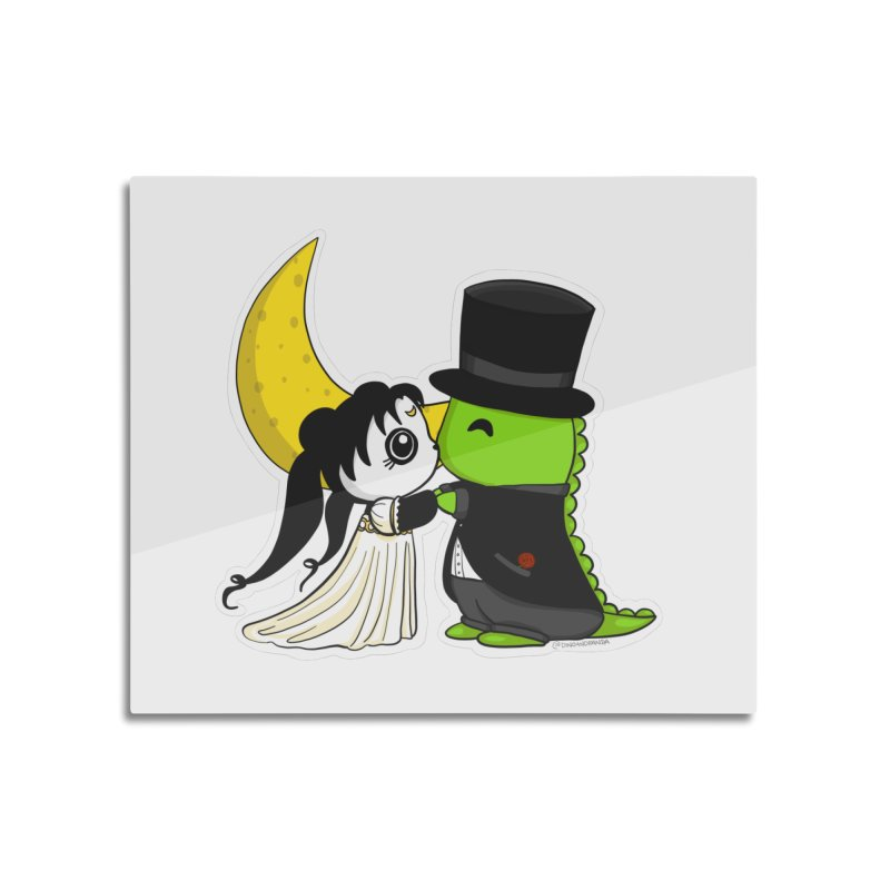Princess Panda Serenity and Tuxedo Dino Home Mounted Aluminum Print by Dino & Panda Inc Artist Shop