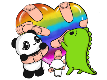 Dino & Panda Artist Shop Logo