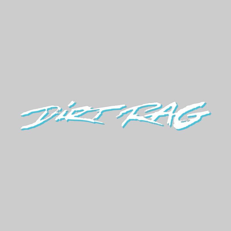 Dirt Rag Script White & Aqua None  by Dirt Rag Magazine's Shop