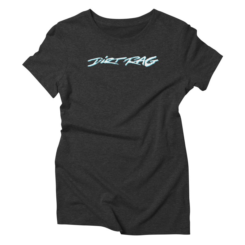 Dirt Rag Script White & Aqua Women's Triblend T-Shirt by Dirt Rag Magazine's Shop