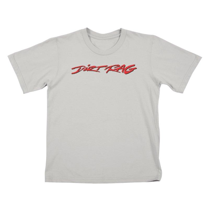 Dirt Rag Script Red & Black Kids T-Shirt by Dirt Rag Magazine's Shop