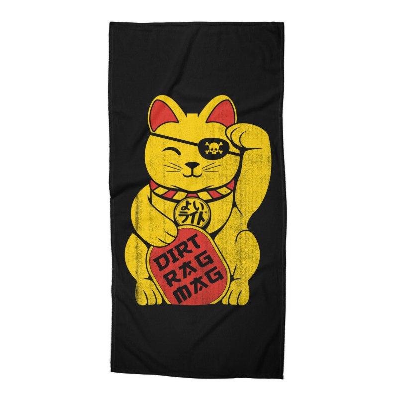 Dirt Rag Lucky Cat Accessories Beach Towel by Dirt Rag Magazine's Shop
