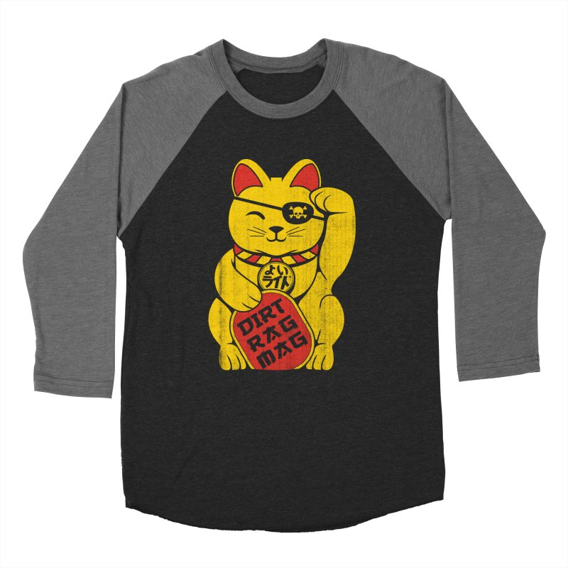 Dirt Rag Lucky Cat Men's Baseball Triblend T-Shirt by Dirt Rag Magazine's Shop