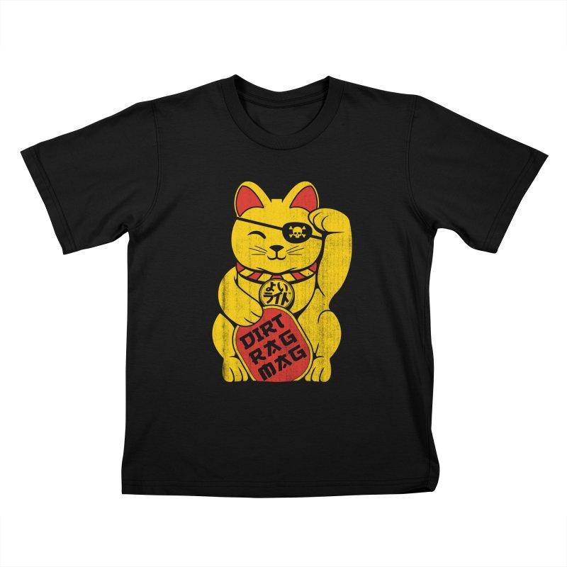 Dirt Rag Lucky Cat Kids T-Shirt by Dirt Rag Magazine's Shop