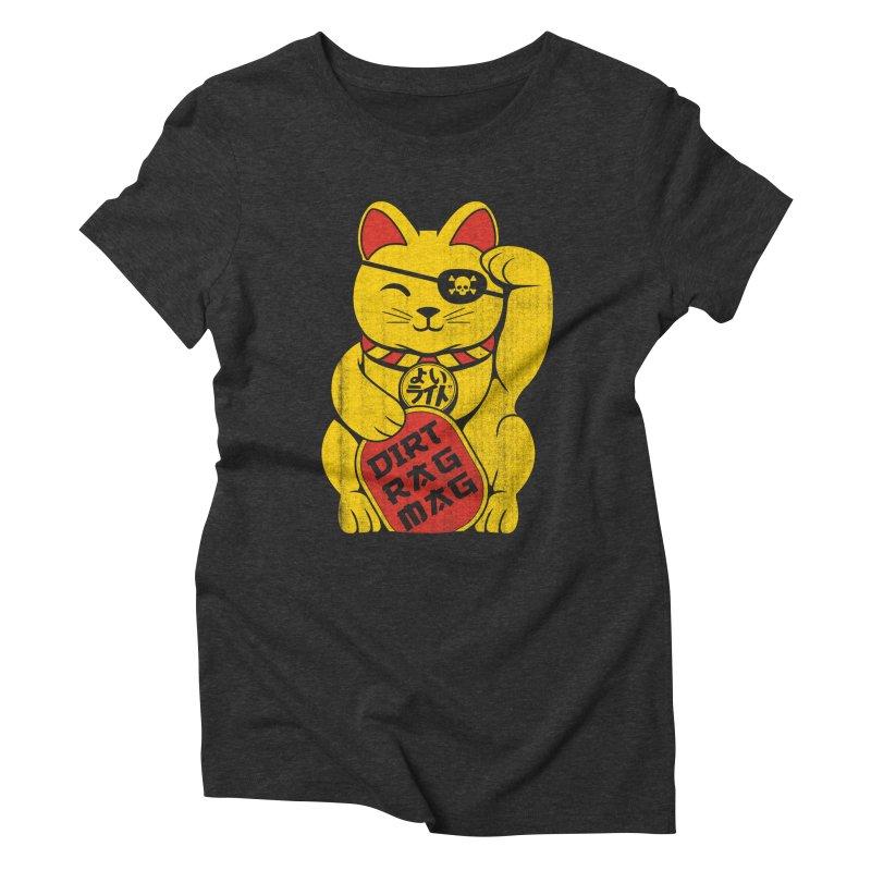 Dirt Rag Lucky Cat Women's Triblend T-Shirt by Dirt Rag Magazine's Shop