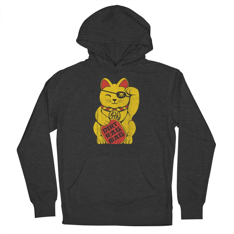 Dirt Rag Lucky Cat Men's French Terry Pullover Hoody by Dirt Rag Magazine's Shop