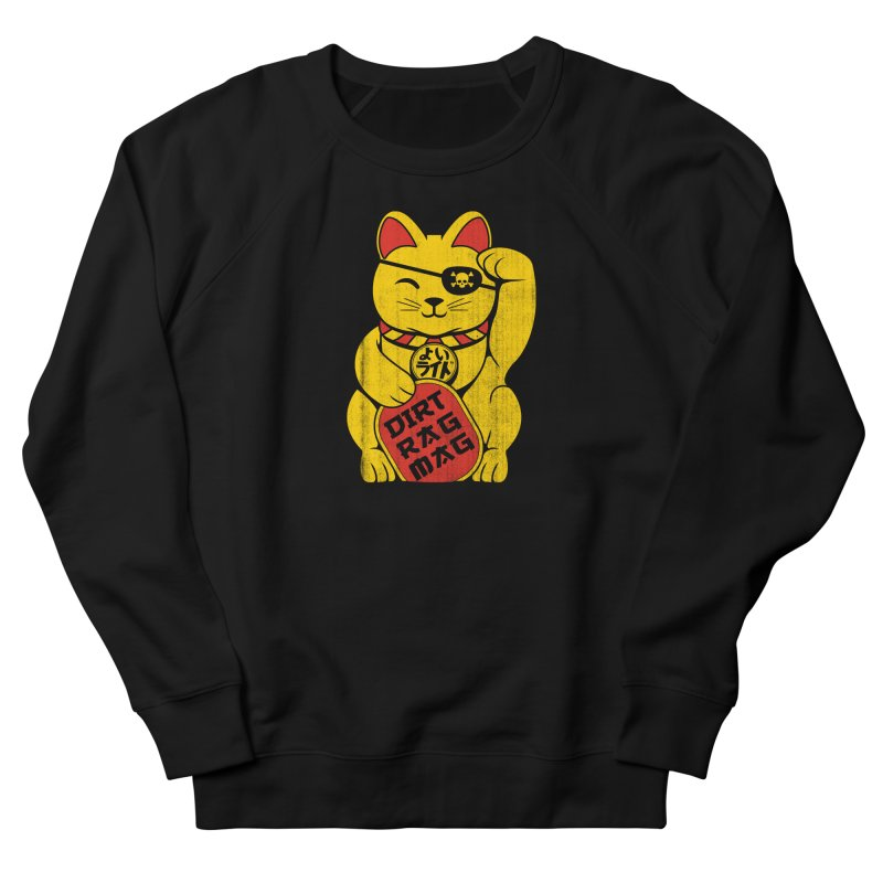 Dirt Rag Lucky Cat Women's French Terry Sweatshirt by Dirt Rag Magazine's Shop