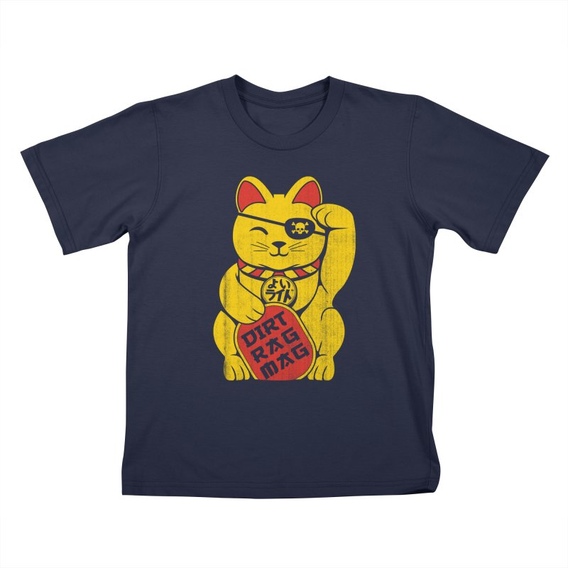 Dirt Rag Lucky Cat Kids T-Shirt by Dirt Rag Magazine's Shop