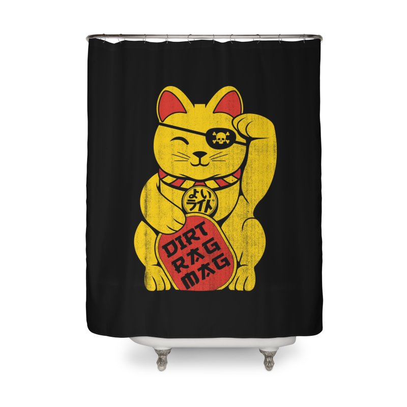 Dirt Rag Lucky Cat Home Shower Curtain by Dirt Rag Magazine's Shop
