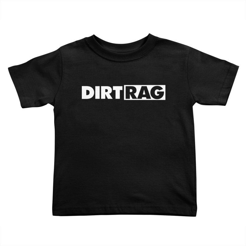 Dirt Rag Logo White Kids Toddler T-Shirt by Dirt Rag Magazine's Shop