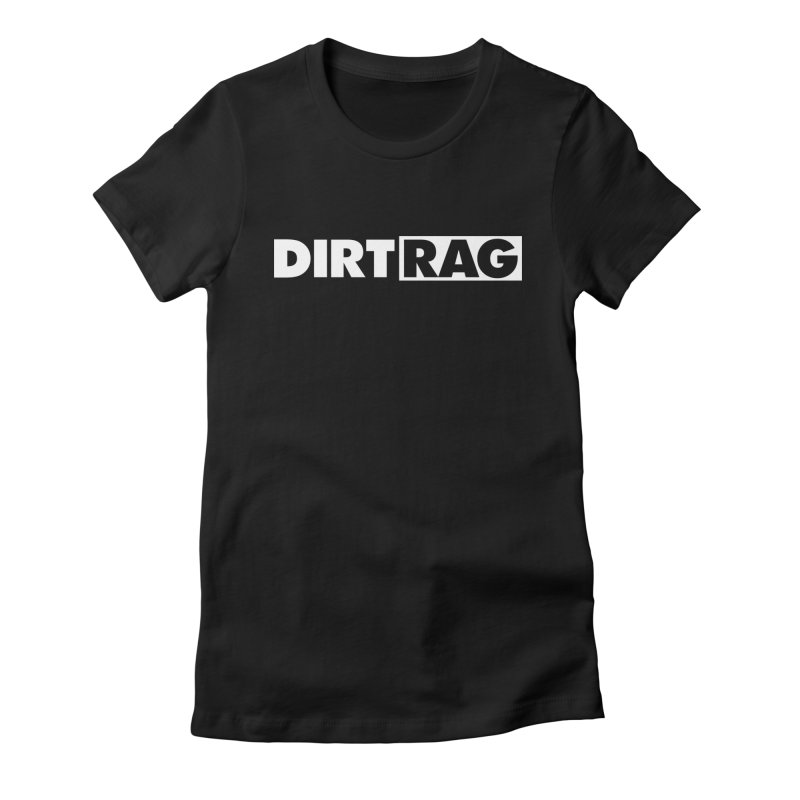 Dirt Rag Logo White Women's Fitted T-Shirt by Dirt Rag Magazine's Shop