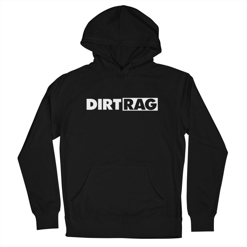 Dirt Rag Logo White Men's French Terry Pullover Hoody by Dirt Rag Magazine's Shop