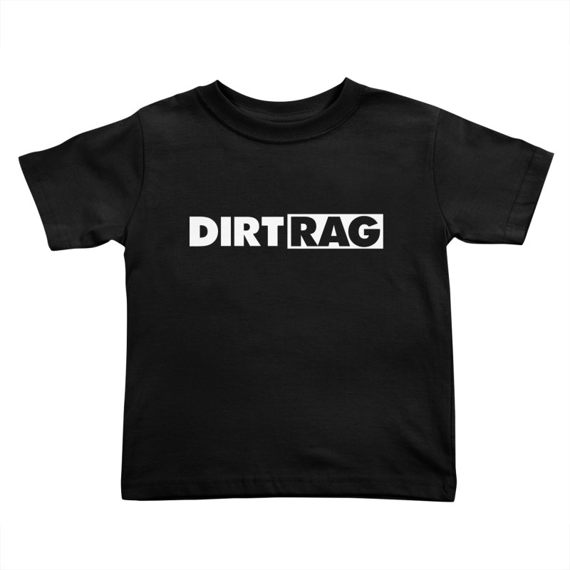 Dirt Rag Logo White Kids Toddler T-Shirt by Dirt Rag Magazine's Shop