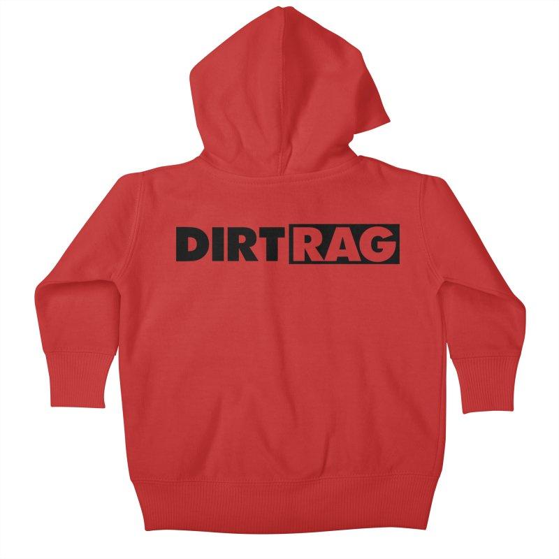Dirt Rag Logo Black Kids Baby Zip-Up Hoody by Dirt Rag Magazine's Shop