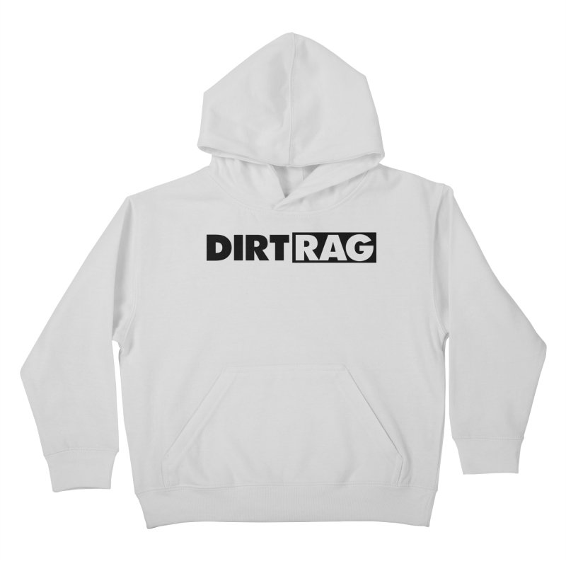 Dirt Rag Logo Black Kids Pullover Hoody by Dirt Rag Magazine's Shop