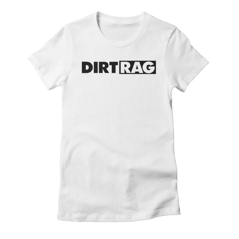 Dirt Rag Logo Black Women's Fitted T-Shirt by Dirt Rag Magazine's Shop