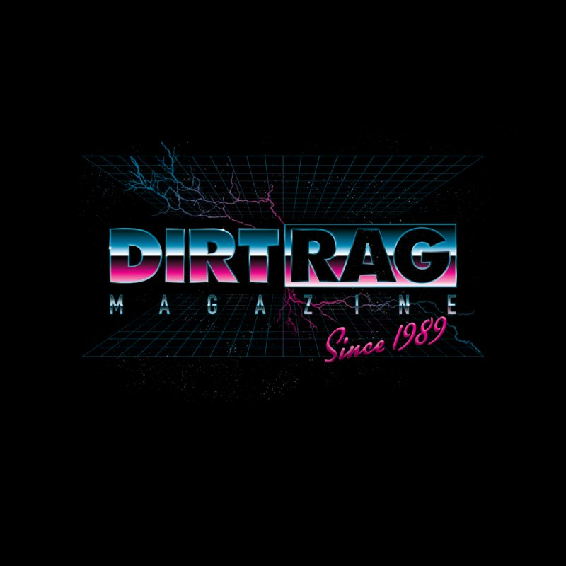 Dirt Rag Totally '80s Chrome Steel Home Shower Curtain by Dirt Rag Magazine's Shop