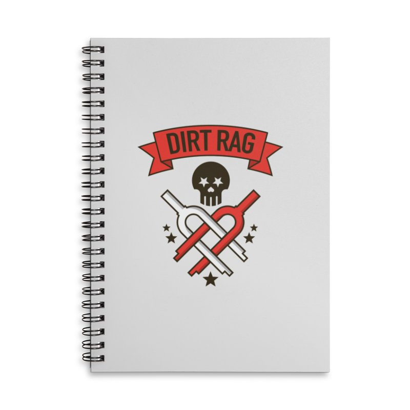 Dirt Rag Bangin' Forks Accessories Lined Spiral Notebook by Dirt Rag Magazine's Shop