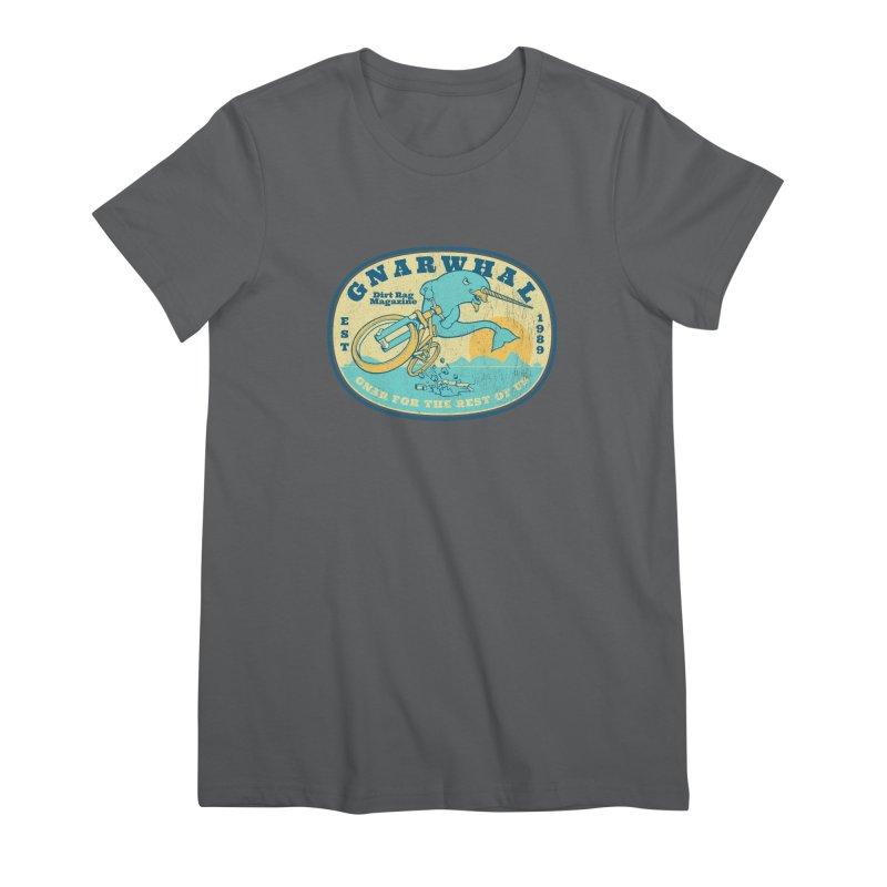 Gnarwhal Women's Premium T-Shirt by Dirt Rag Magazine's Shop