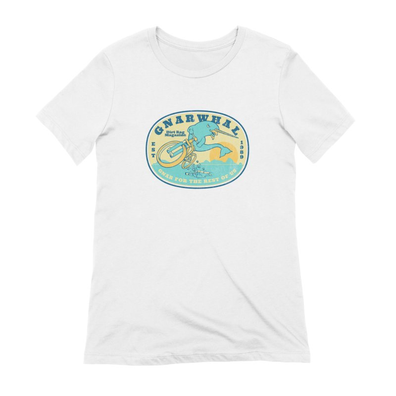 Gnarwhal Women's Extra Soft T-Shirt by Dirt Rag Magazine's Shop