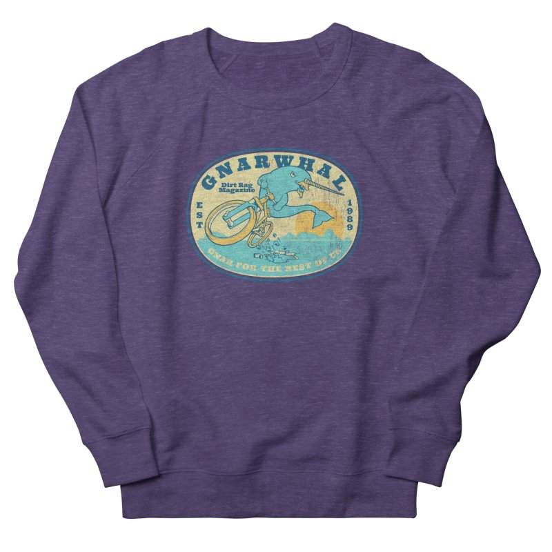 Gnarwhal Women's French Terry Sweatshirt by Dirt Rag Magazine's Shop
