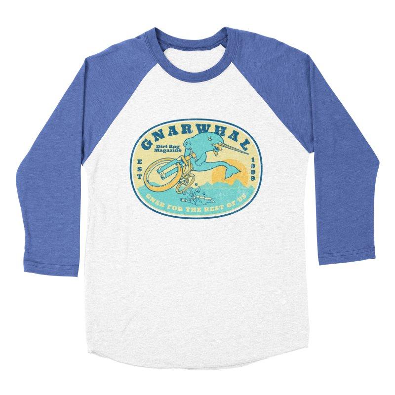 Gnarwhal Women's Baseball Triblend Longsleeve T-Shirt by Dirt Rag Magazine's Shop