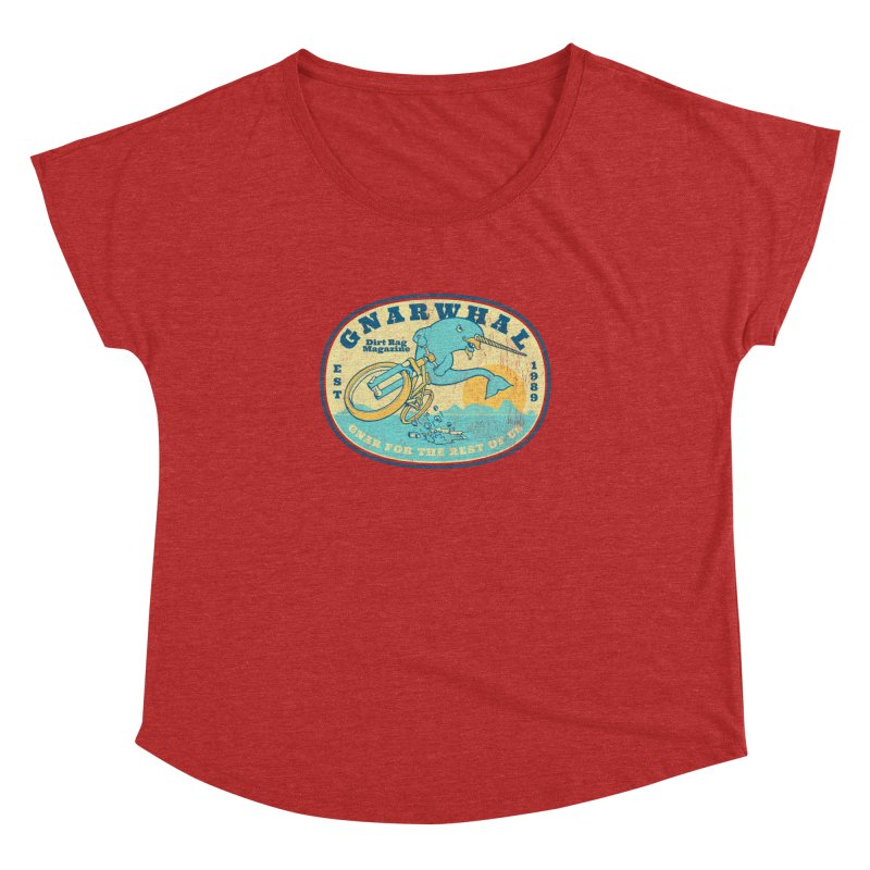 Gnarwhal Women's Dolman Scoop Neck by Dirt Rag Magazine's Shop