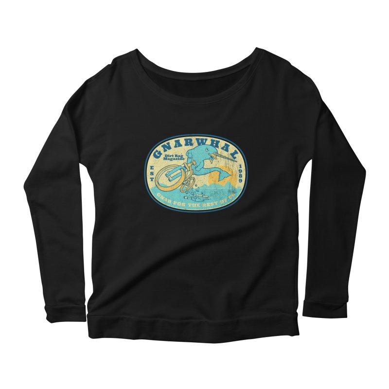 Gnarwhal Women's Scoop Neck Longsleeve T-Shirt by Dirt Rag Magazine's Shop