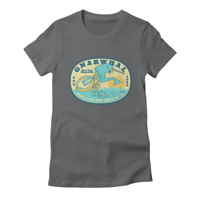 Gnarwhal Women's Fitted T-Shirt by Dirt Rag Magazine's Shop