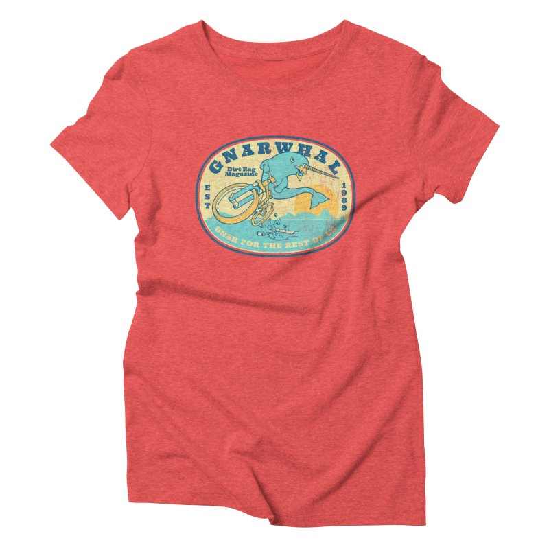 Gnarwhal Women's Triblend T-Shirt by Dirt Rag Magazine's Shop