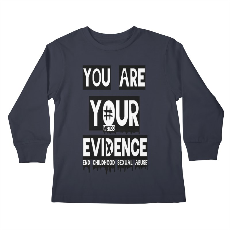Your Own Evidence Kids Longsleeve T-Shirt by 30&3