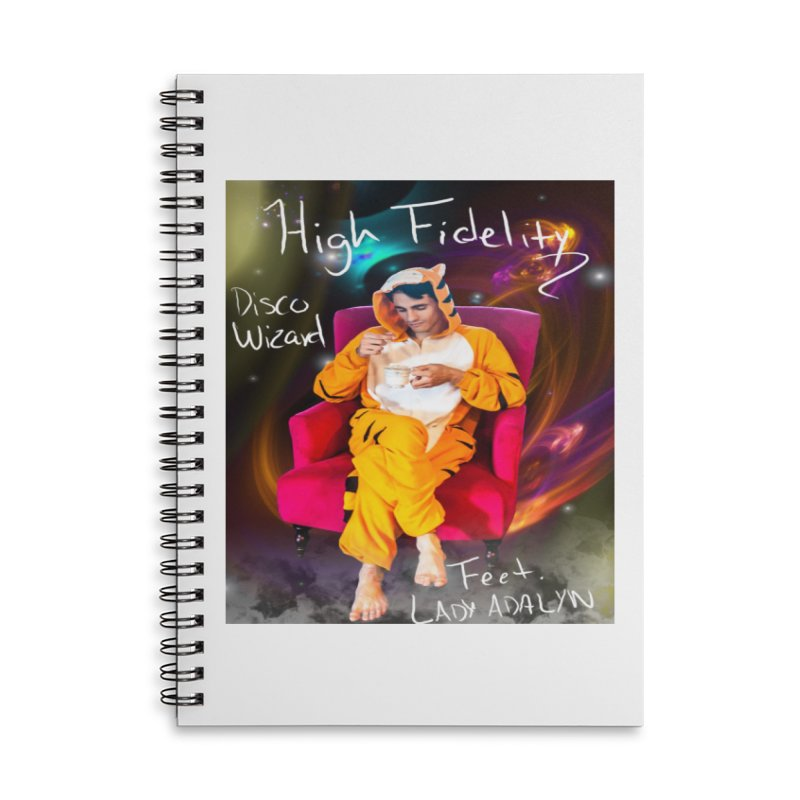 Disco Wizard Accessories Lined Spiral Notebook by 30&3