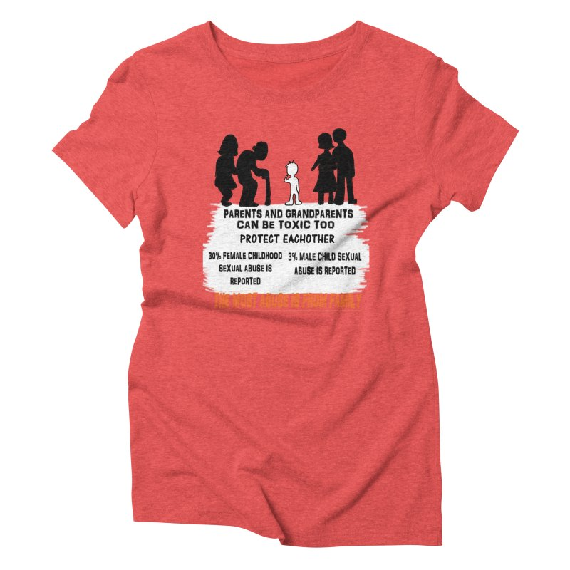 Toxic Parents Women's Triblend T-Shirt by 30&3
