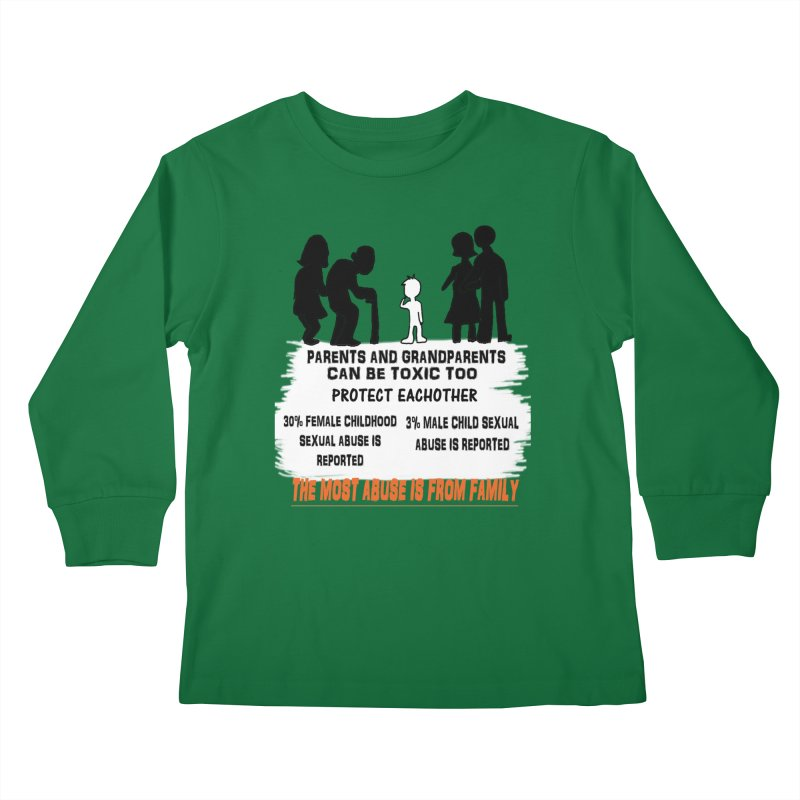 Toxic Parents Kids Longsleeve T-Shirt by 30&3