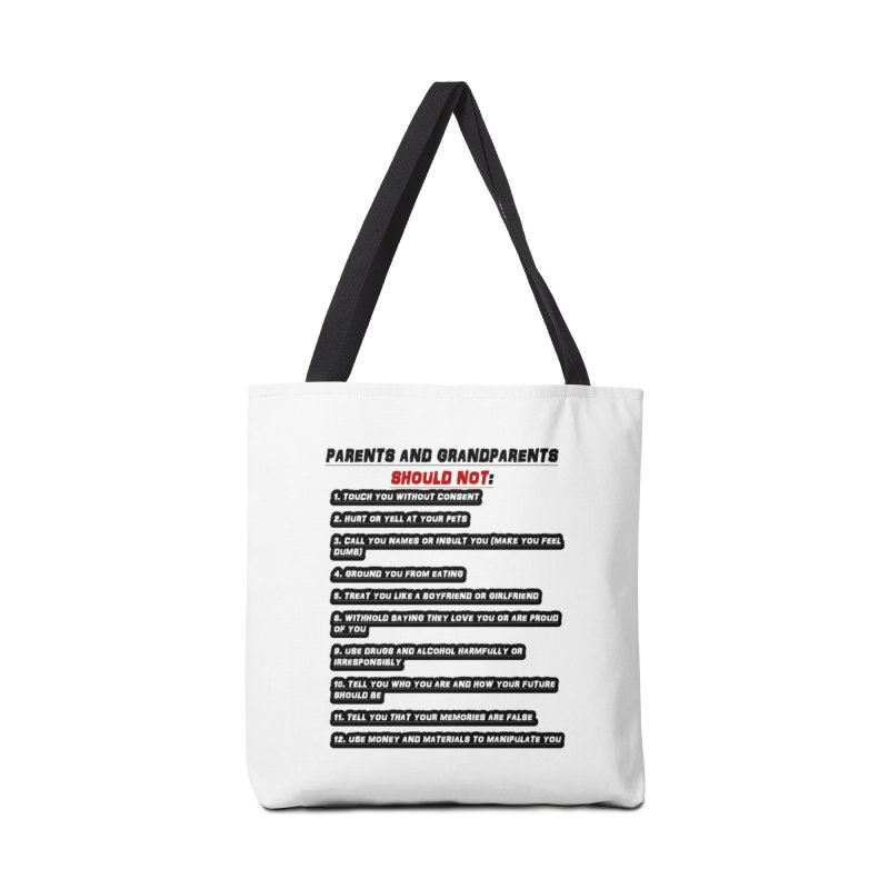 CONSENT OR ELSE Accessories Tote Bag Bag by 30&3