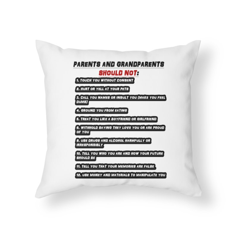 CONSENT OR ELSE Home Throw Pillow by 30&3