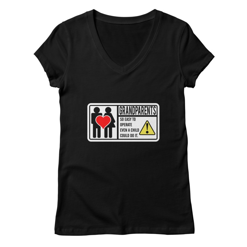 The Grandparents Women's V-Neck by Divinitium's Clothing and Apparel