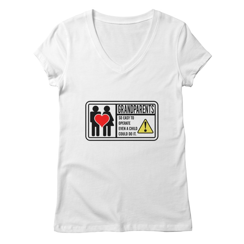 The Grandparents Women's Regular V-Neck by Divinitium's Clothing and Apparel