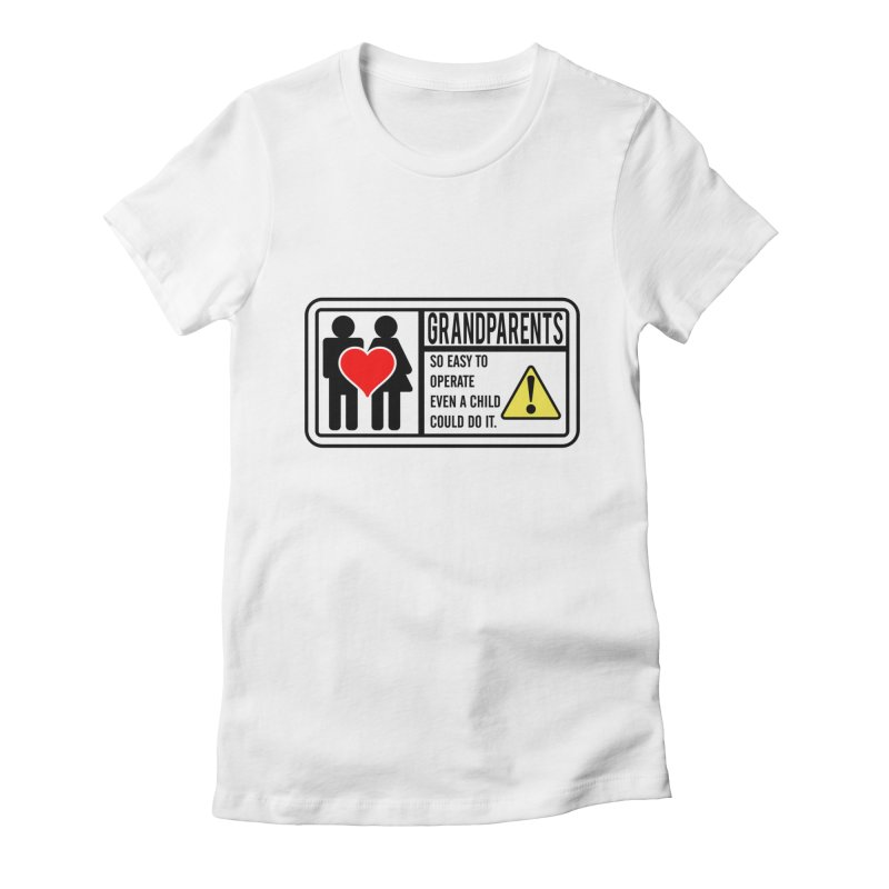 The Grandparents Women's Fitted T-Shirt by Divinitium's Clothing and Apparel