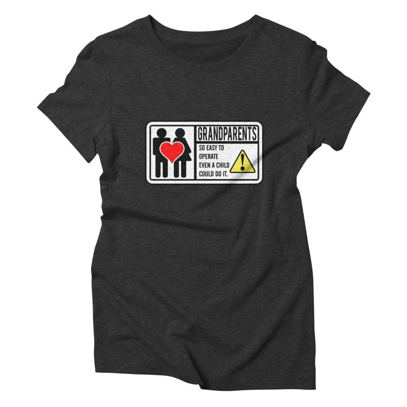 The Grandparents Women's Triblend T-Shirt by Divinitium's Clothing and Apparel