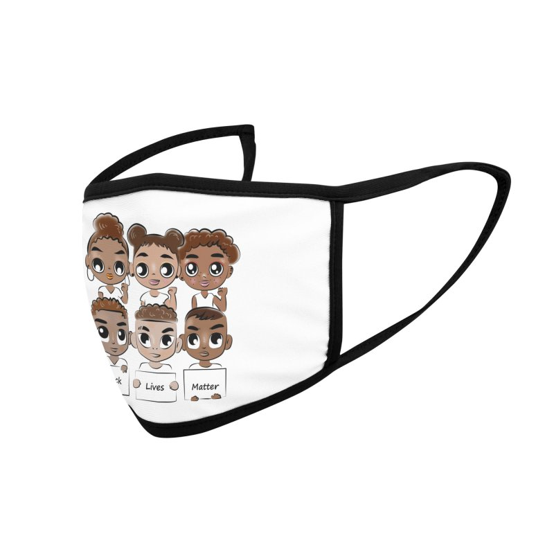 Black Lives Matter Accessories Face Mask by Divinitium's Clothing and Apparel