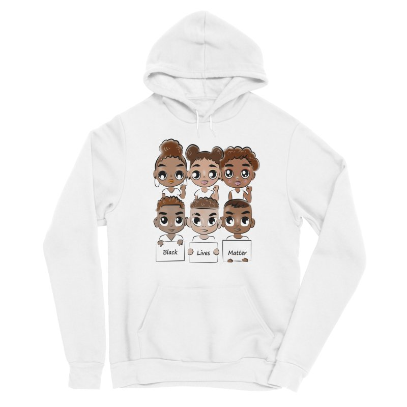Black Lives Matter Women's Pullover Hoody by Divinitium's Clothing and Apparel