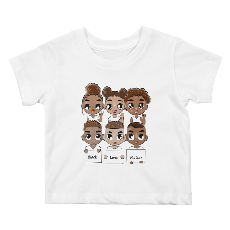 Black Lives Matter Kids Baby T-Shirt by Divinitium's Clothing and Apparel