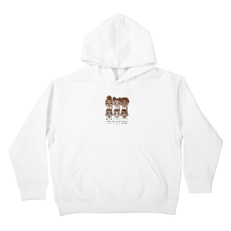 Black Lives Matter Kids Pullover Hoody by Divinitium's Clothing and Apparel